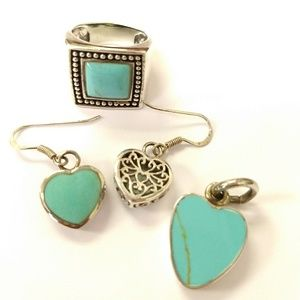 Jewelry - Sterling Silver & Turquoise Set